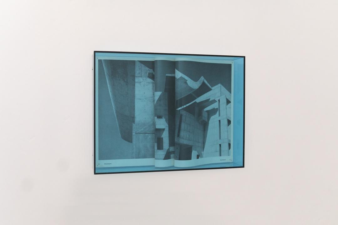 My house is a Le Corbusier (Palace of Assembly - Chandigarh), 2017;  piega di pagine di libri, plexiglass Altuglass, poliplat, spilli. Courtesy the artist