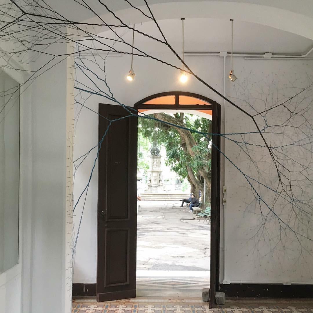 Janaina Mello Landini, Ciclotrama 52 (intersecção), 2016 (installation view